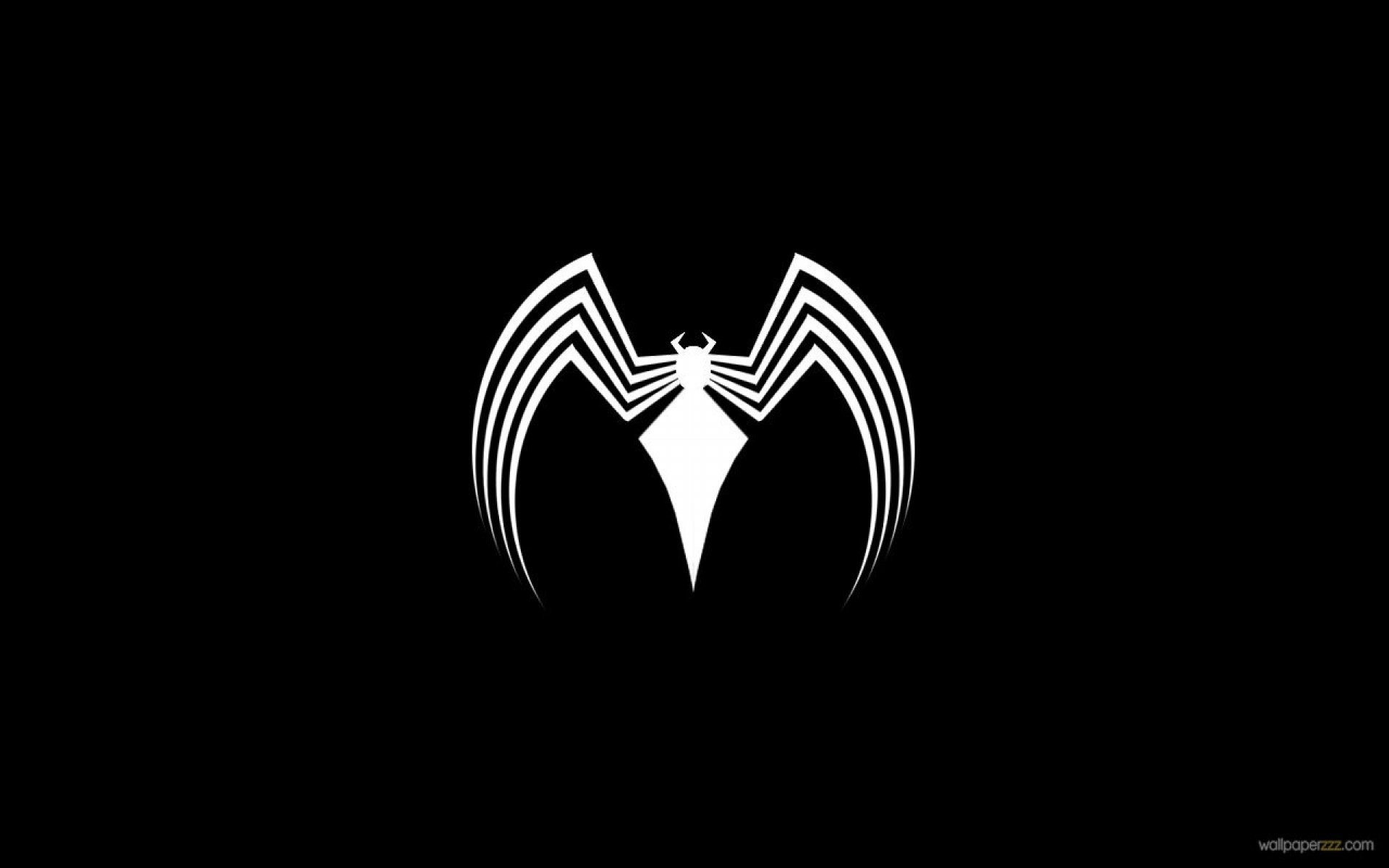 Spiderman venom wallpaper wallpapertag - Black and white spiderman wallpaper ...