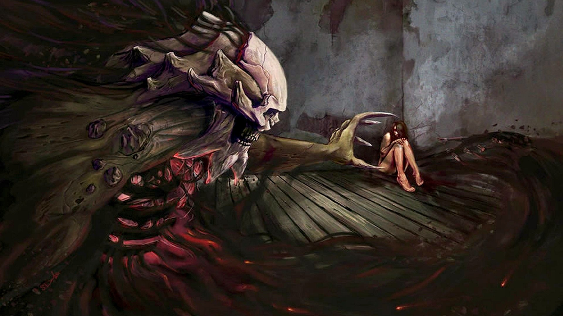 Wallpaper Anime Scary