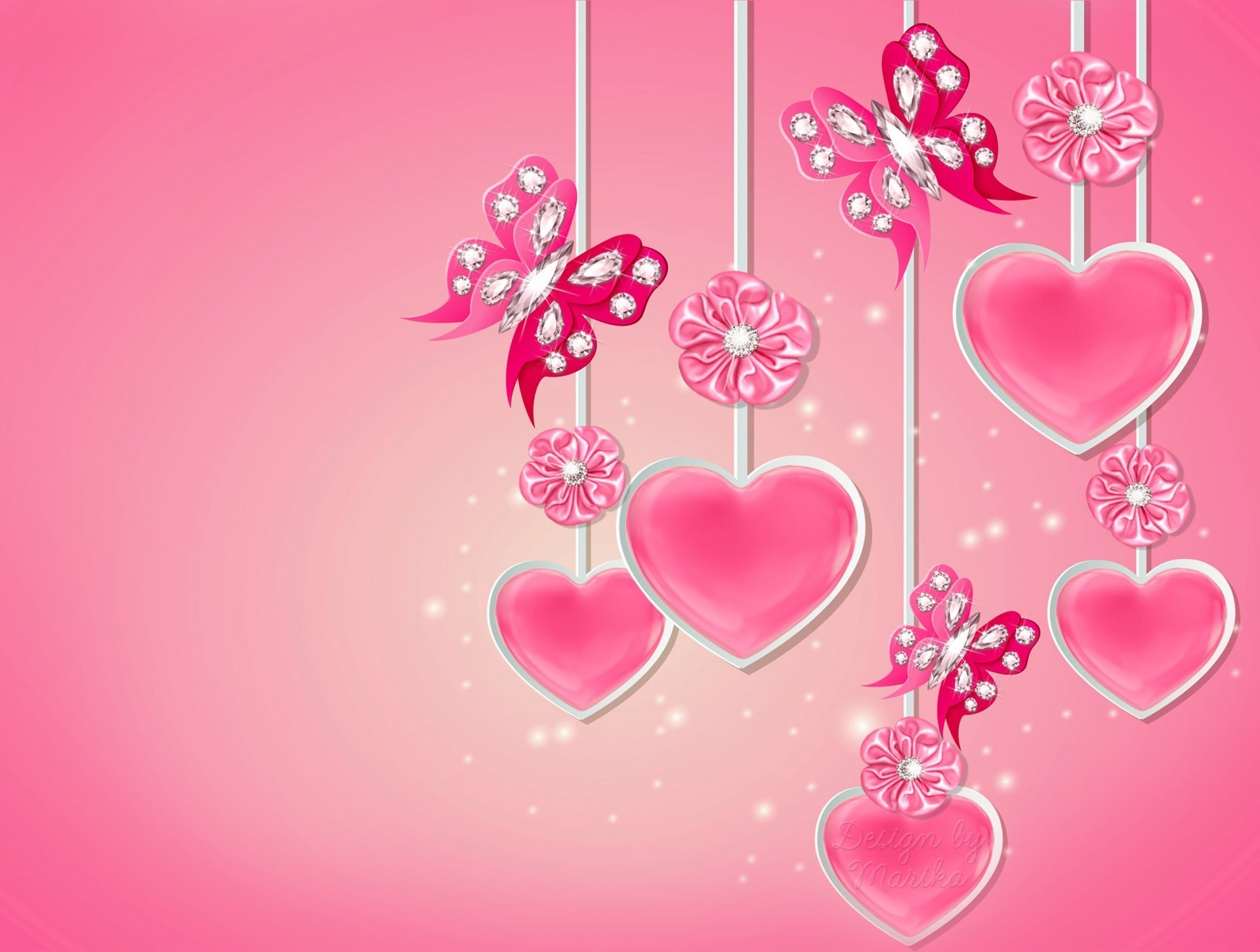 Love Heart Design Wallpaper : Pink Love Heart Backgrounds ??