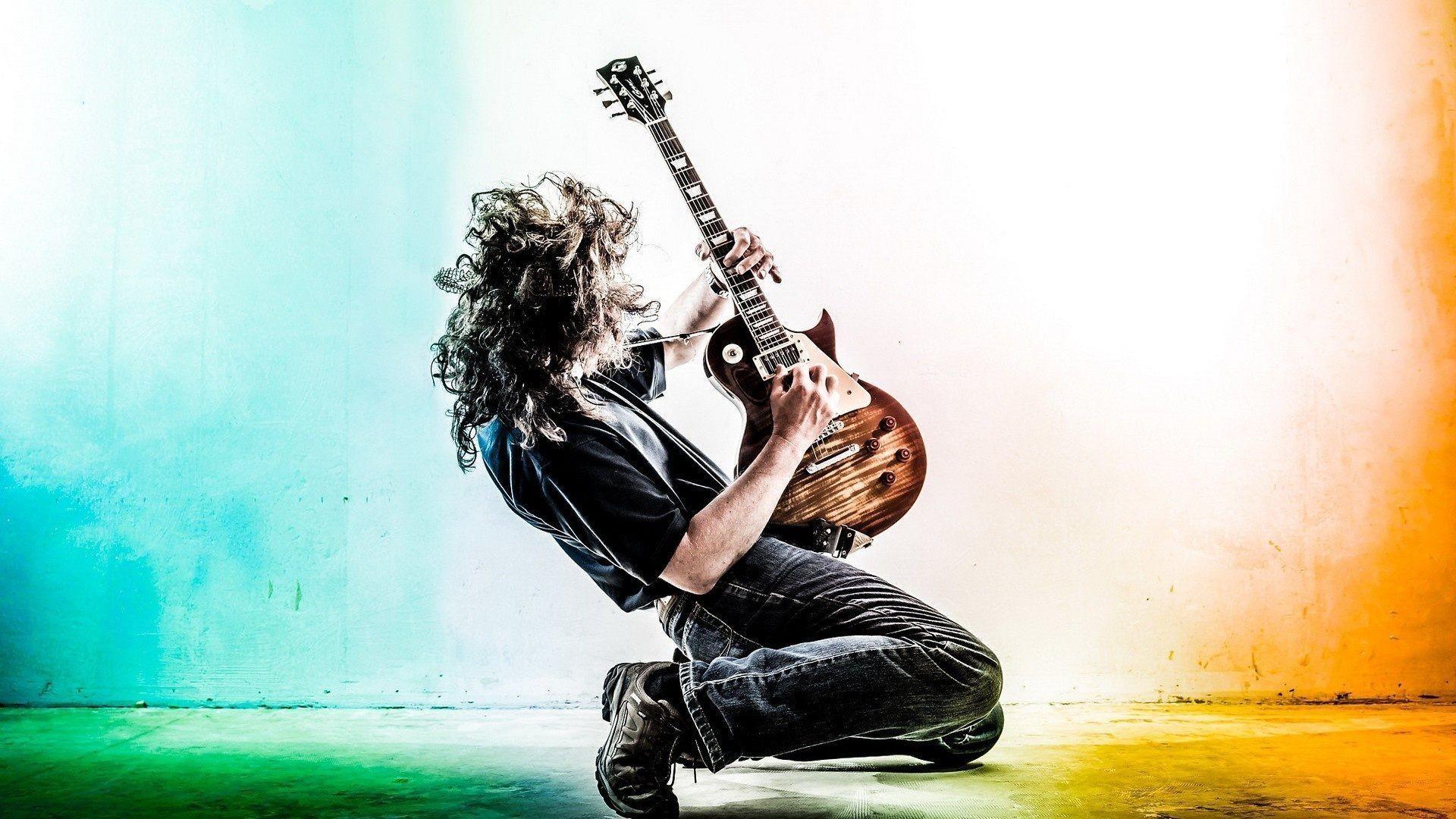 hd guitar wallpaper â