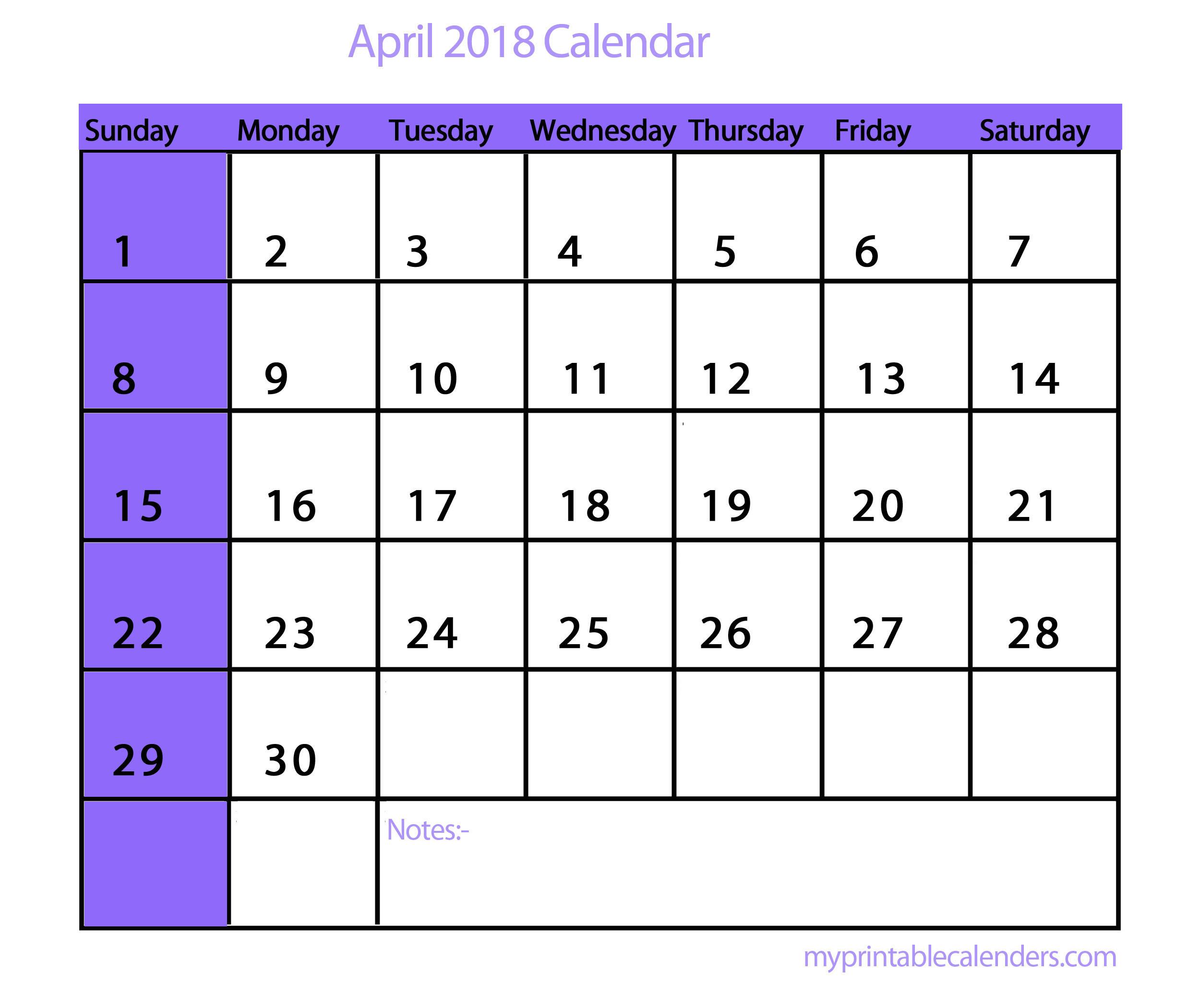 Calendar Wallpaper With Notes : Desktop wallpapers calendar april ·①