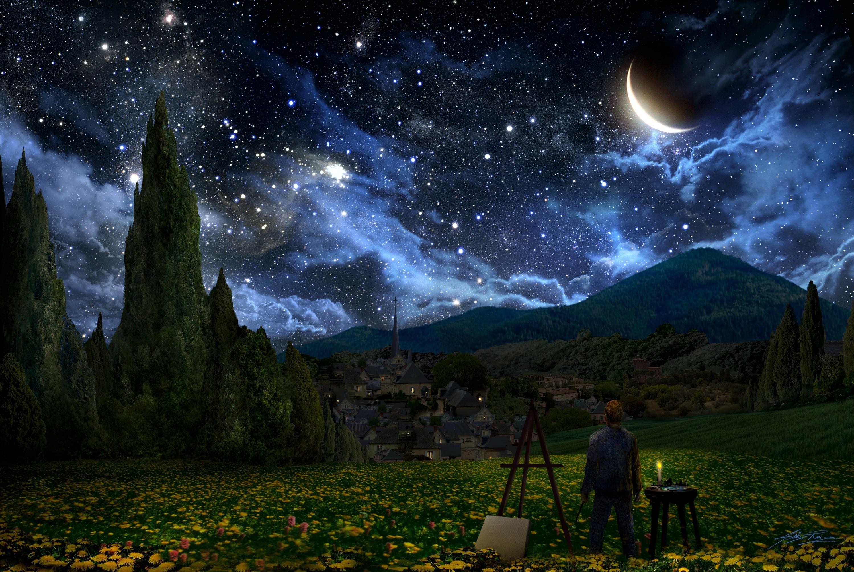 Best Wallpaper Night Ios - 368082-starry-night-wallpaper-2999x2007-ios  Photograph-386055.jpg