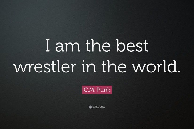 "C.M. Punk Quote: ""I am the best wrestler in the world."""