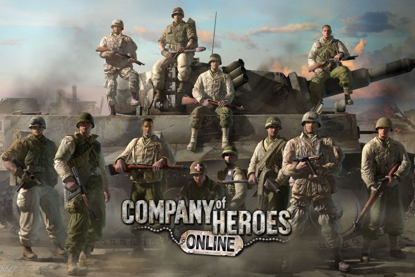company of heroes online tank chill widescreen wallpaper