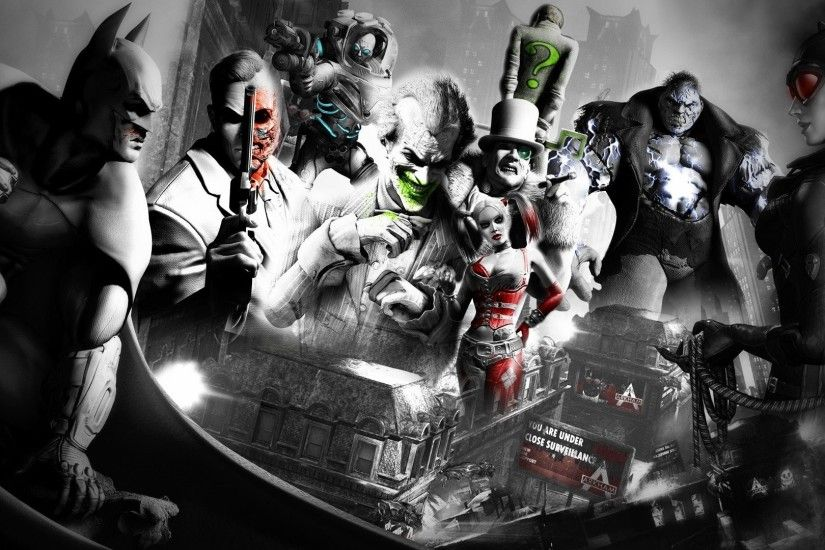 Batman Joker Video Games Arkham City Rocksteady Studios Robin Character  Catwoman Mr. Freeze The Riddler Two Face 100477