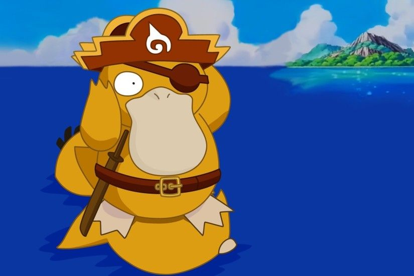 Psyduck on the water - Pokemon wallpaper 1920x1080 jpg