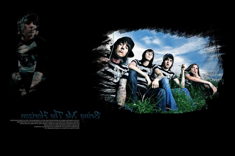 Bring me the horizon band members grass sky hd wallpaper.