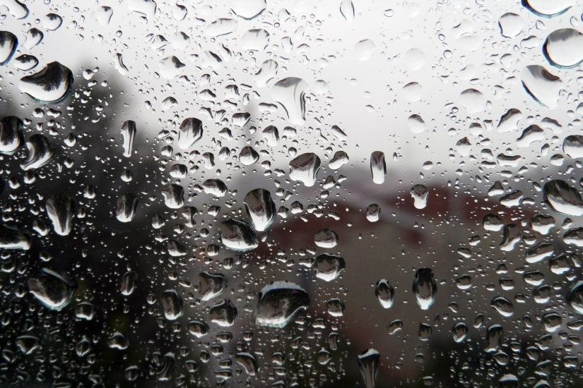 Glass Abstract Drops Rain Window Storm Free Nature Images Photos - 1920x1080
