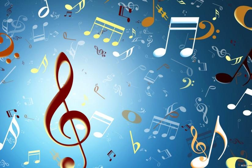 free download music notes wallpaper 2560x1600