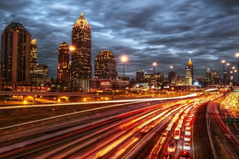 Atlanta City Night USA HD Wallpaper Download awesome, Nice and High Quality  #HD #Wallpapers from #backgroundwallpapershd for FREE !!