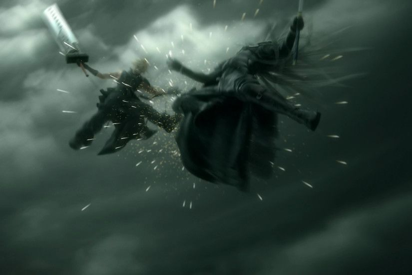 ... Final Fantasy VII Advent Children, Sephiroth, Cloud Strife, screenshots  - related desktop wallpaper ...