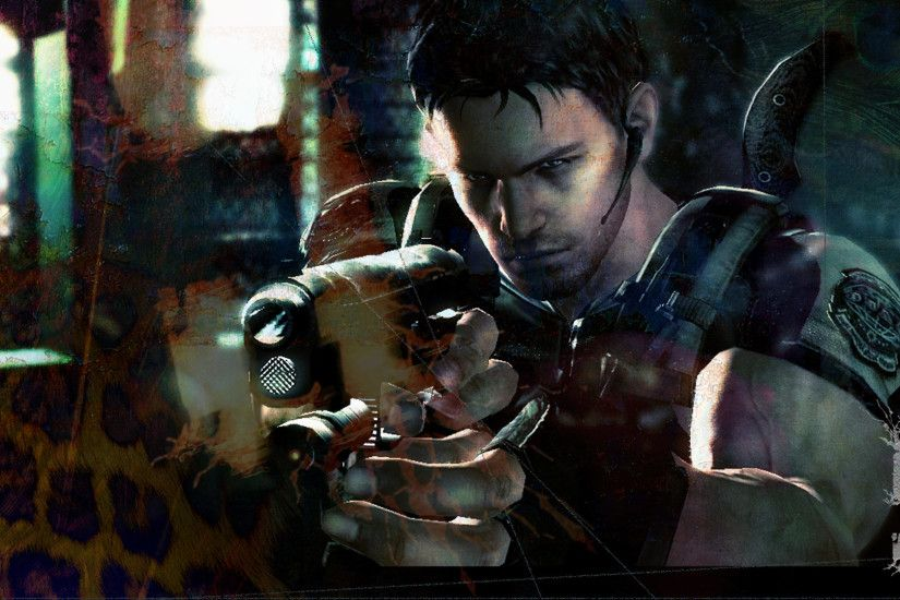 Resident Evil 5 Chris taking aim - PS3 Wallpaper.jpg