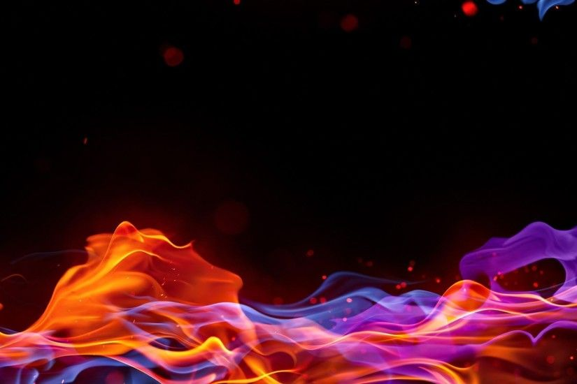 Blue And Red Fire Background wallpaper 186027