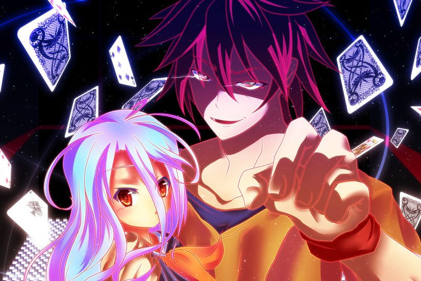 no game no life wallpaper - shiro and sora