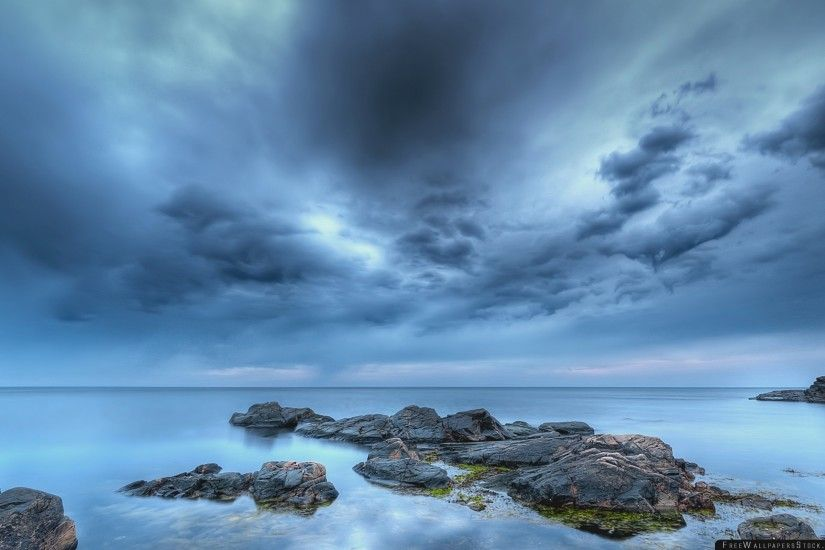 Download Free Wallpaper Stones Calm Sky Cloudy Emptiness