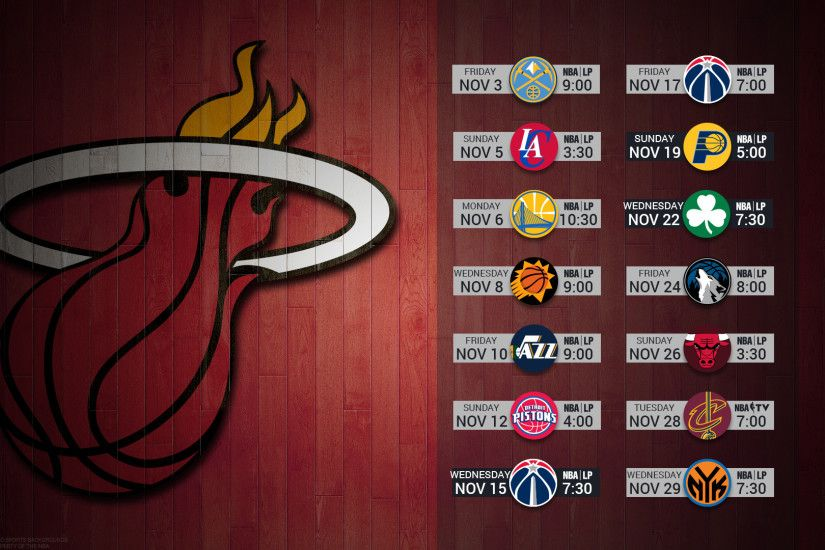 Miami Heat 2017 schedule NBA BASKETBALL logo wallpaper free pc desktop  computer