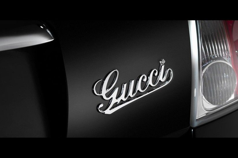Black-fiat-with-gucci-logo-wallpapers-HD