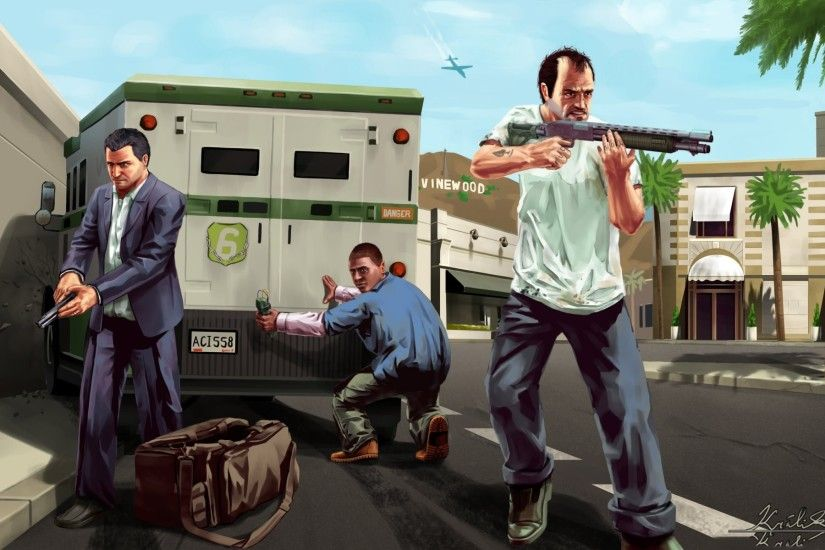 gta 5 michael trevor franklin art