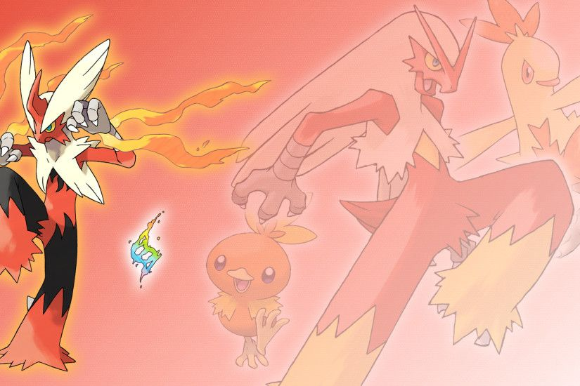 ... Combusken, Blaziken, and Mega Wallpaper by Glench