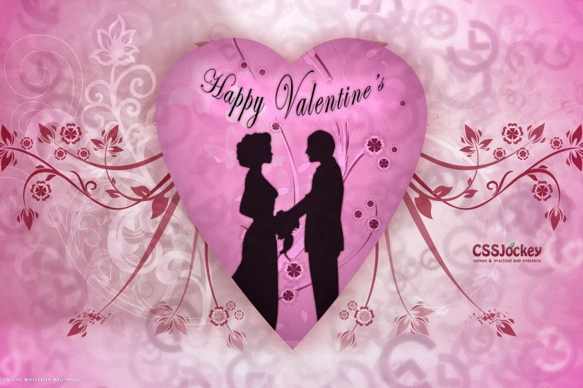 valentines day happy couple pink heart flowers vector love romantic hd  widescreen wallpaper