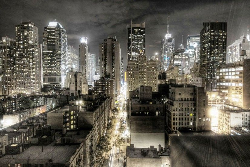 New York City At Night Picture HD Wallpaper 1080p