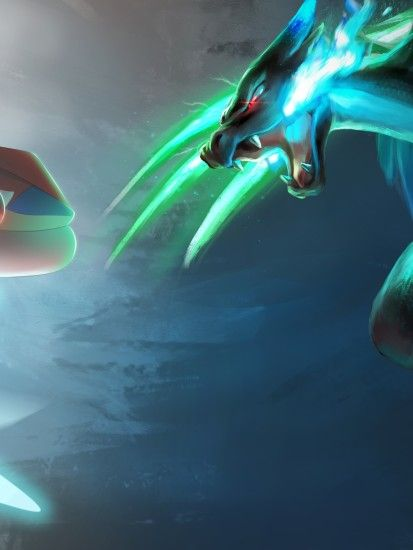 Mega Charizard X, Greninja, Pokemon Xy, Battle