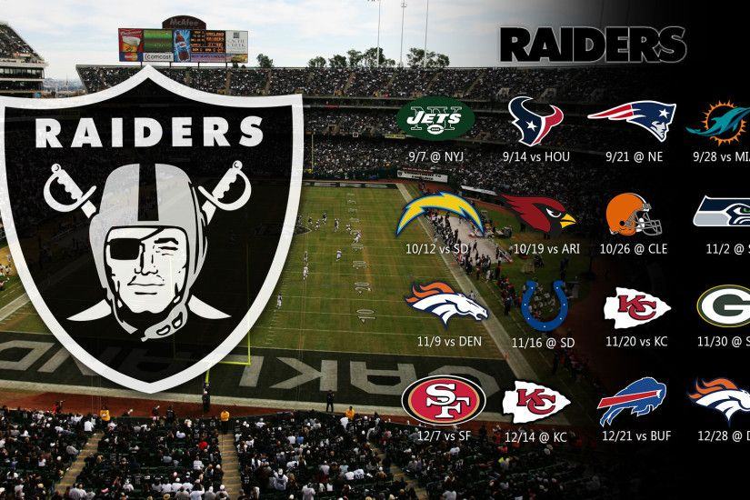2017 Oakland Raiders Wallpapers PC iPhone Android Source · Raiders Schedule  2014 Oakland raiders