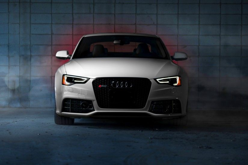 3840x2160 Wallpaper audi, rs5, front view, white