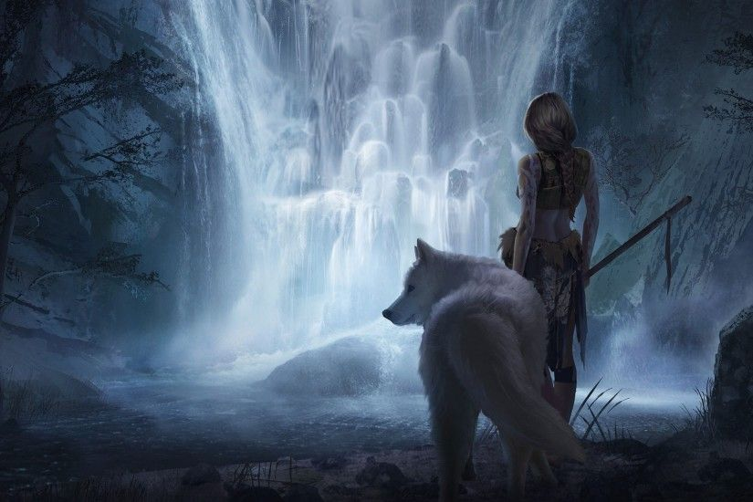 Fantasy Wolf Wallpapers Wallpaper 2500×1281