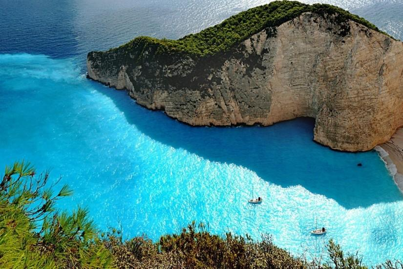 Nature Wallpaper: Greece Beach Wallpaper Widescreen with High .