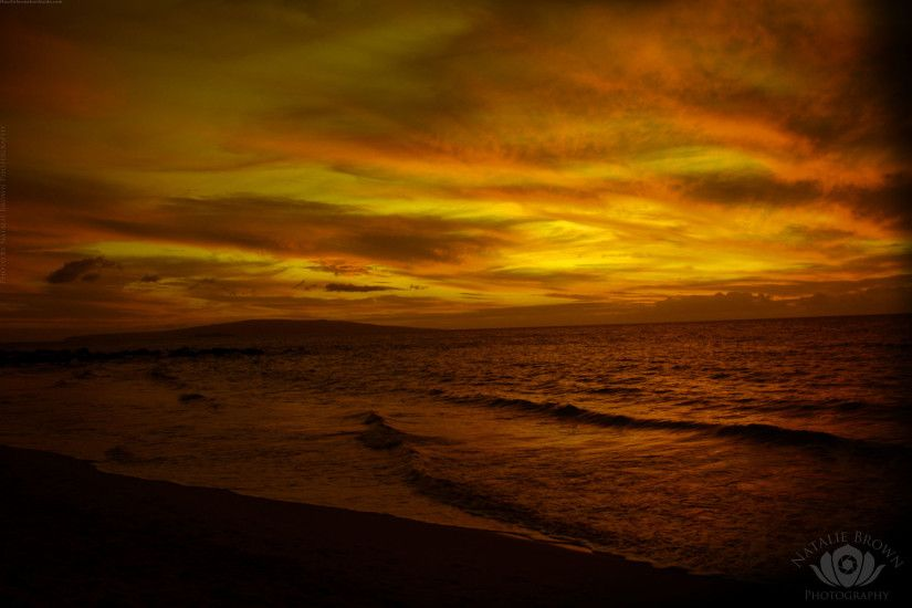 sepia sunset · Lahaina sunset
