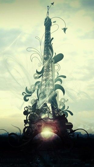 Animated Eiffel Tower. Tap to see more Paris, the romantic city iPhone  wallpapers,