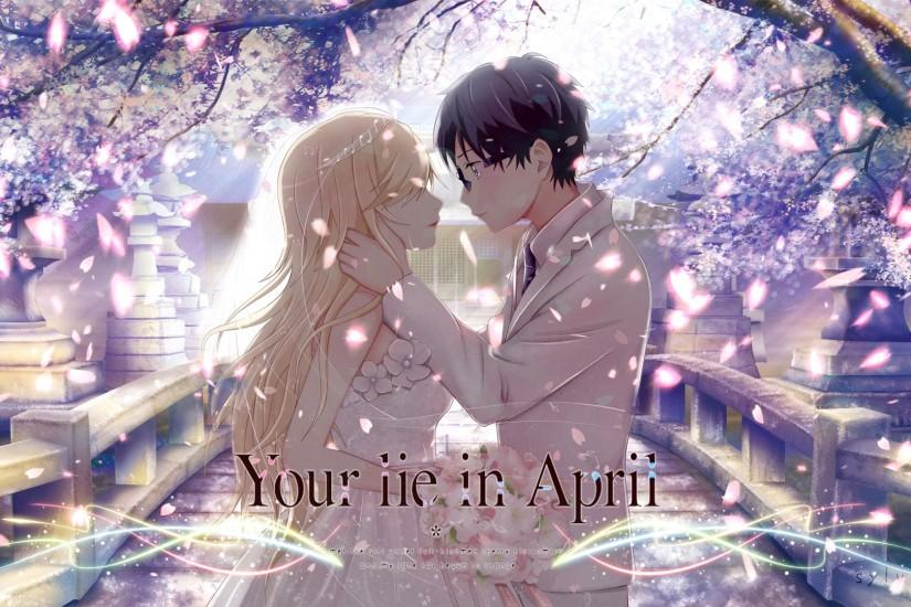 vertical your lie in april wallpaper 1920x1080 full hd