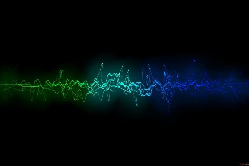 Black <b>Blue</b> Rings <b>Sound Wave Wallpaper