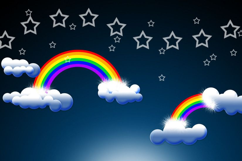 Download: Epic Rainbow and Clouds HD Wallpaper