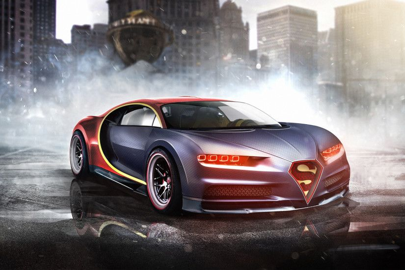 Superman Bugatti Chiro - Car Wallpapers,Desktop Car Wallpapers,