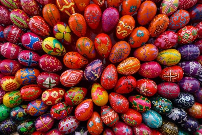 easter wallpapers eggs hd colorful. Â«Â«