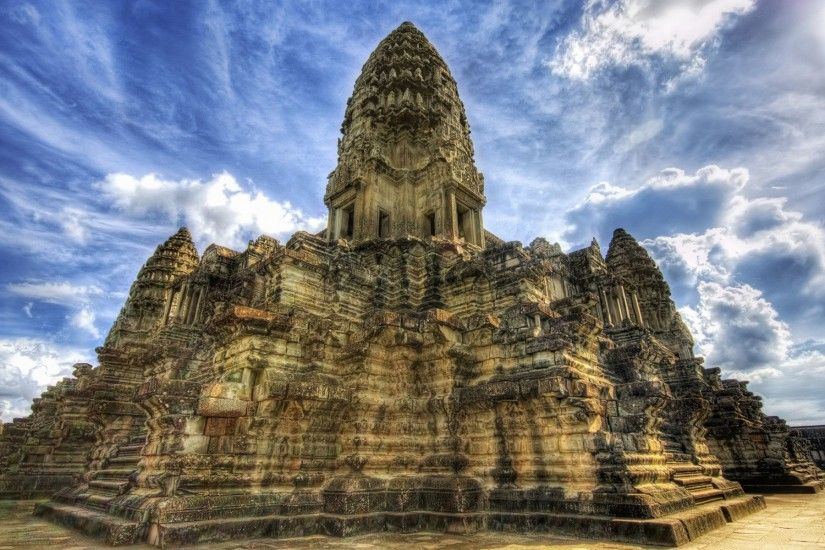 temple in angkor wat widescreen wallpaper Wallpaper HD