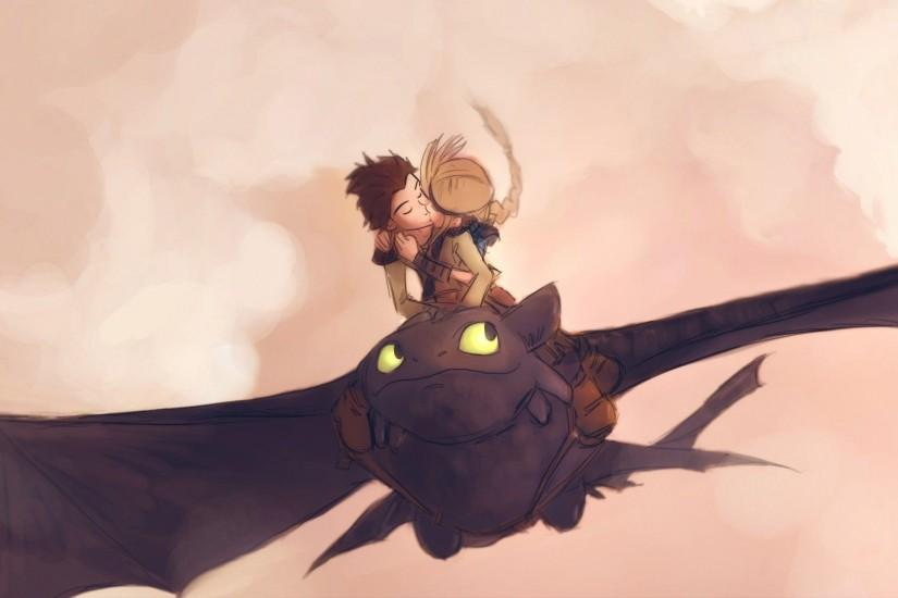 Hiccup and Astrid kissing - How To Train Your Dragon wallpaper 1920x1080 jpg