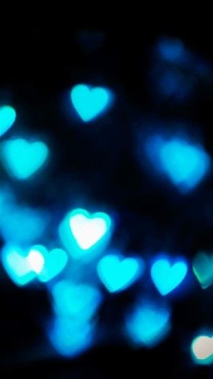 htc one m8 mobile wallpapers hd blue hearts