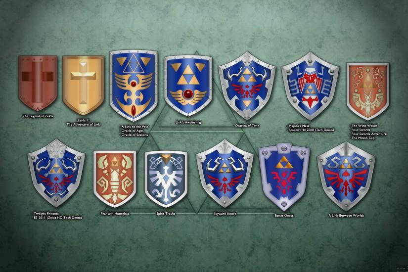 ... Evolution of Link's Shield Wallpaper by BLUEamnesiac