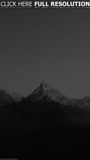 Mountain Bw Dark High Sky Nature Rocky Android wallpaper - Android HD  wallpapers