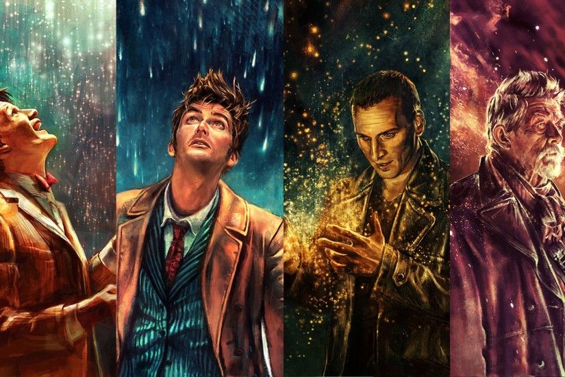 Doctor Who, The Doctor, War Doctor, Ninth Doctor, Tenth Doctor, Eleventh Doctor  Wallpaper HD