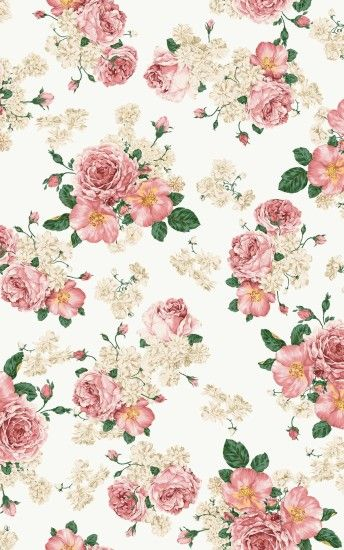 High Res Vintage Pink Flower Wallpaper