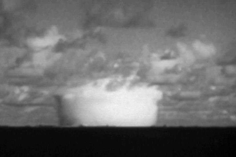 WW2 - Nuclear Explosion Mushroom Cloud Stock Video Footage - VideoBlocks