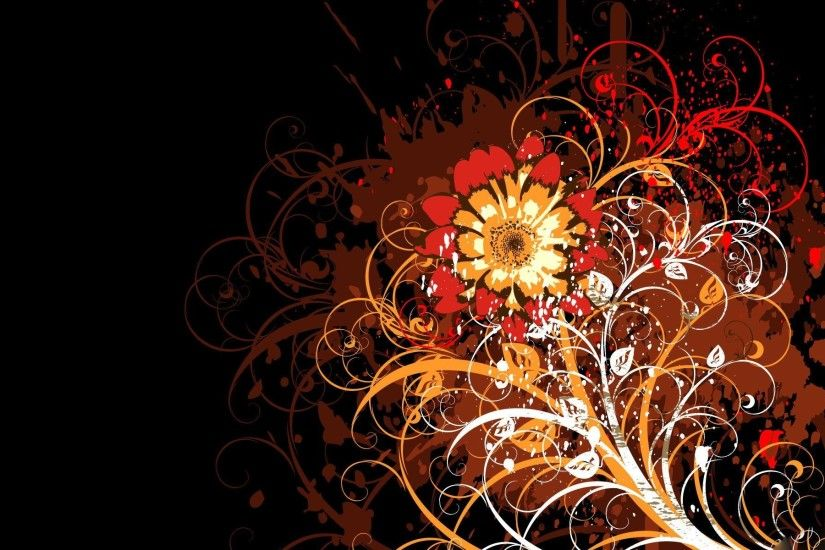 desktop wallpapers and backgrounds | VECTOR FLOWERS DESKTOP BACKGROUNDS