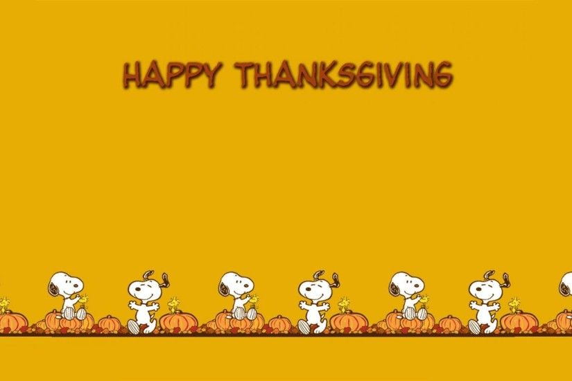 Thanksgiving Snoopy Wallpapers (25 Wallpapers)