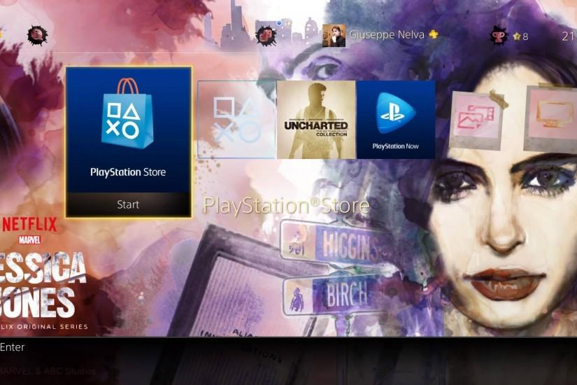PS4 Gets Free Marvel's Jessica Jones Dynamic Theme, and it's Actually Good:  Screenshots Inside