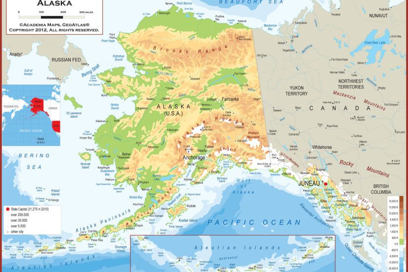 Alaska Map Fotolipcom Rich Image And Wallpaper - United states map with  alaska