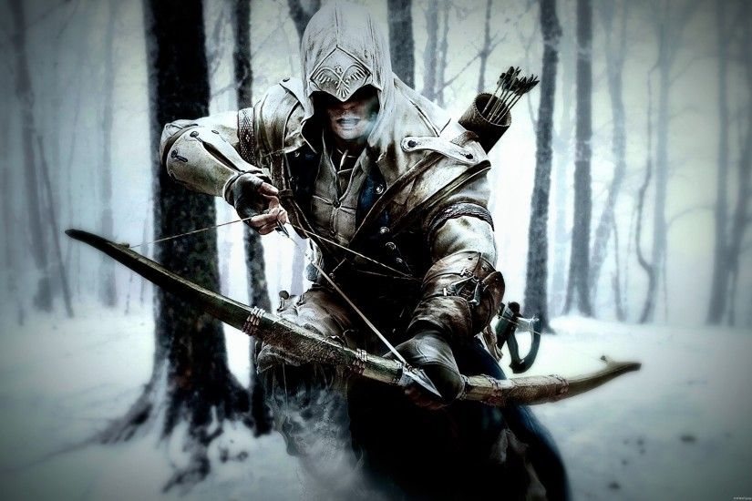 Assassins Creed 3 winter bowman HD Wallpaper -  http://www.hdwallpaperuniverse.